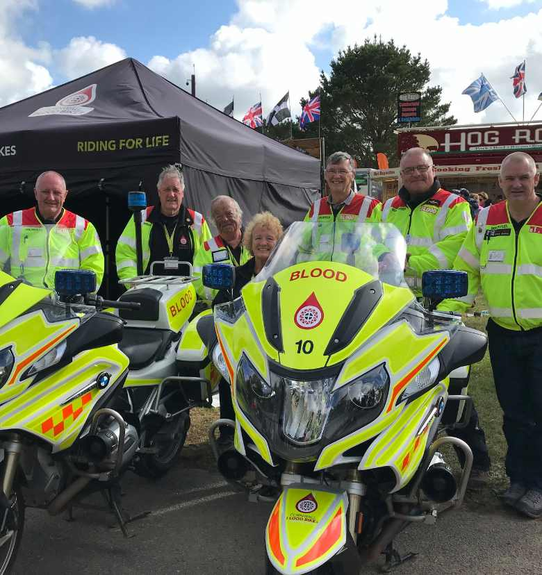 Cornwall Blood Bikes Volunteers at en event